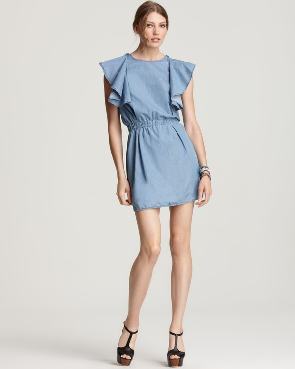 Ruffled Chambray Dress by See By Chloé
