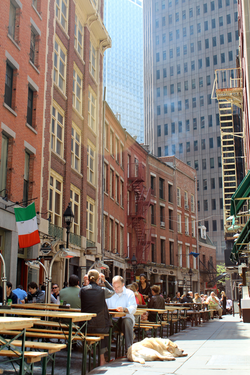 Stone Street in the Financial District of Manhattan