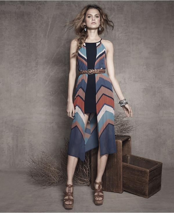 Chevron Midi Dress by Bar III