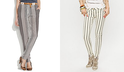 Pinstripe Silk Pants by Madewell and Pinstripe Pants from Free People