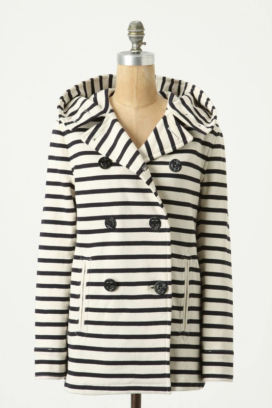Striped Jersey Peacoat by Gloverall
