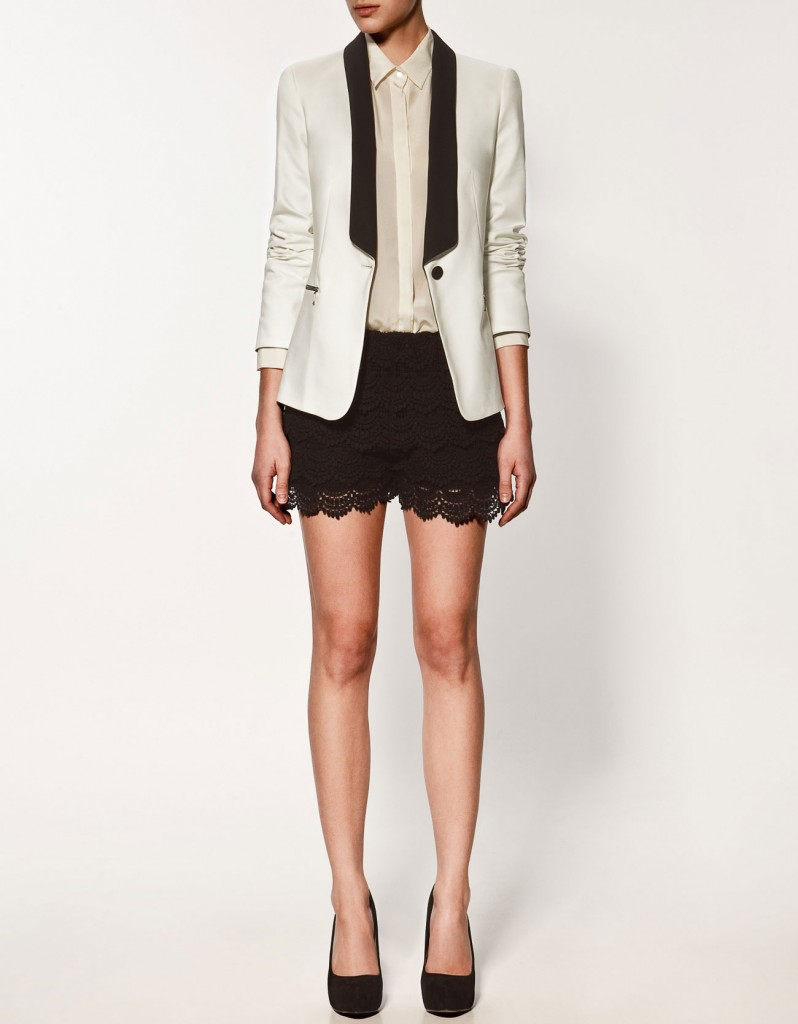 Blazer with Tuxedo Collar by Zara