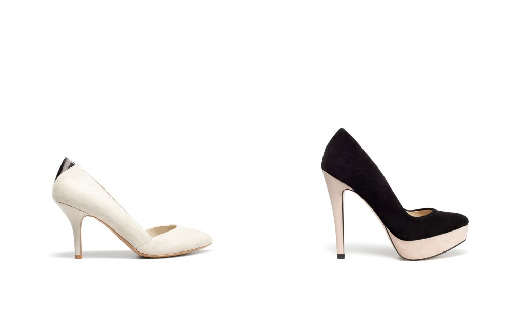 Medium Heel Shoes and Two Tone Platform Shoes by Court