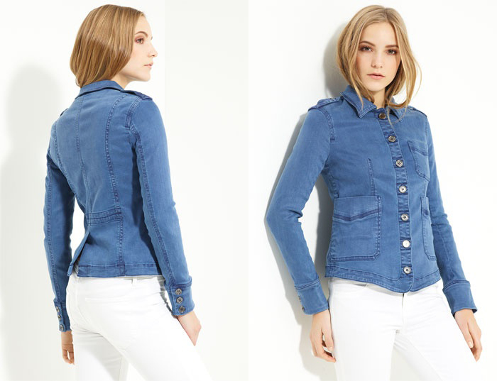 Brit Denim Shirt Jacket by Burberry