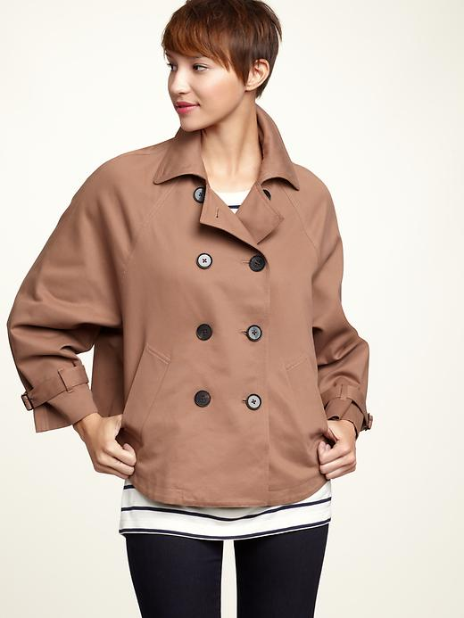 Cropped Trench Capelet by Gap