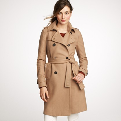 Icon Trench in Wool-Cashmere by J. Crew