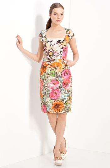Francesca garden print dress by Milly