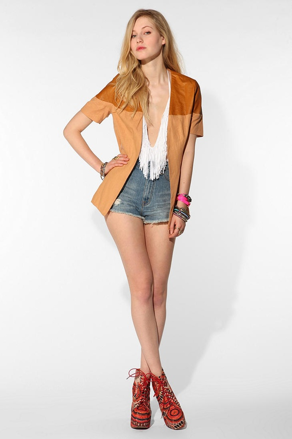 Shakuhachi Linen Block Party Blazer