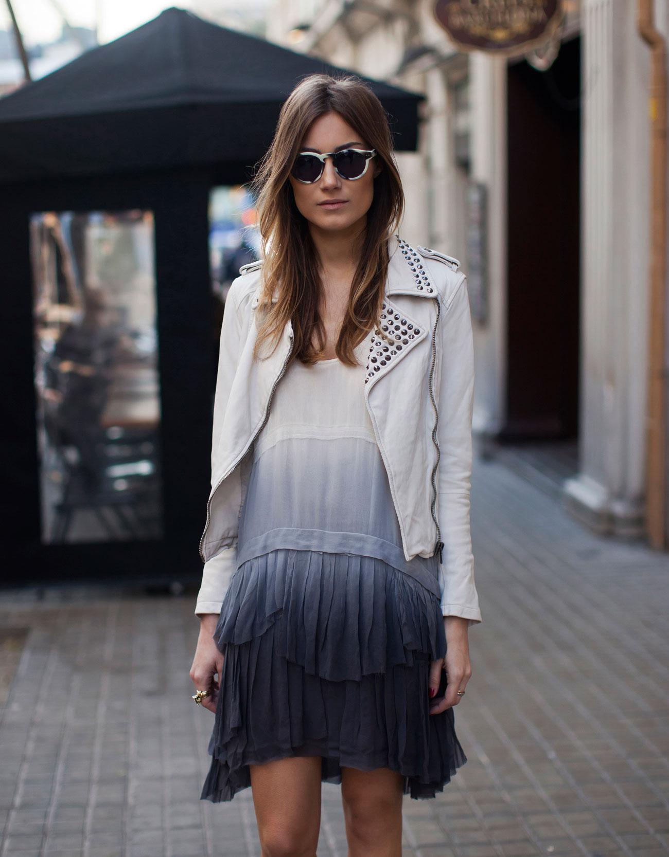 Leather Jacket with Studs by Zara