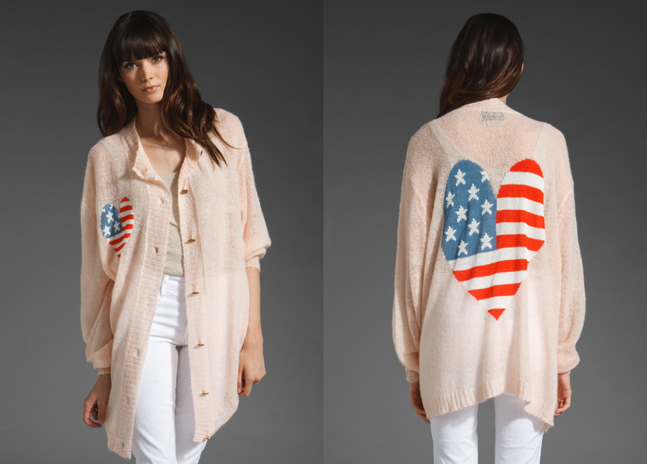 American Heart Sweater by WILDFOX COUTURE