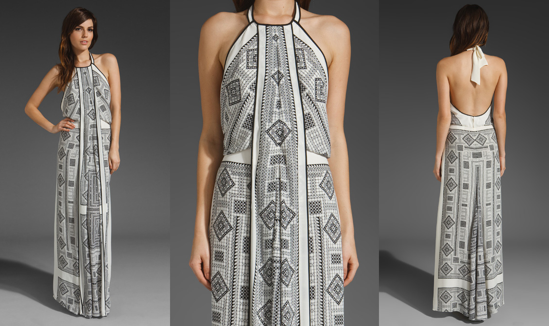 Maxi Halter Dress by BCBGMAXAZRIA