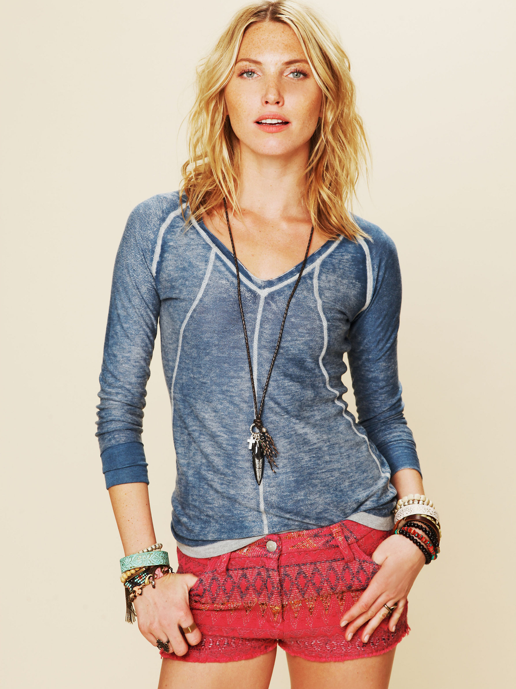 Kokun Cashmere V-Neck Pullover by Free People