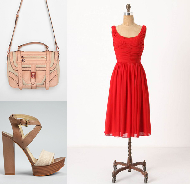 Gracia Dress by Moulinette Soeurs, Nadina Platform Sandals from MICHAEL by Michael Kors (Bloomingdale's), Odette Saddle Bag by Sam Edelman (UO)