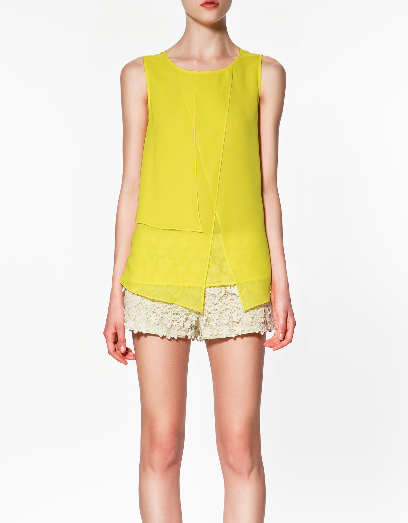 Zara Yellow Lace Blouse 86