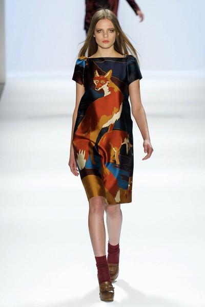 Fox print dress by Jill Stuart