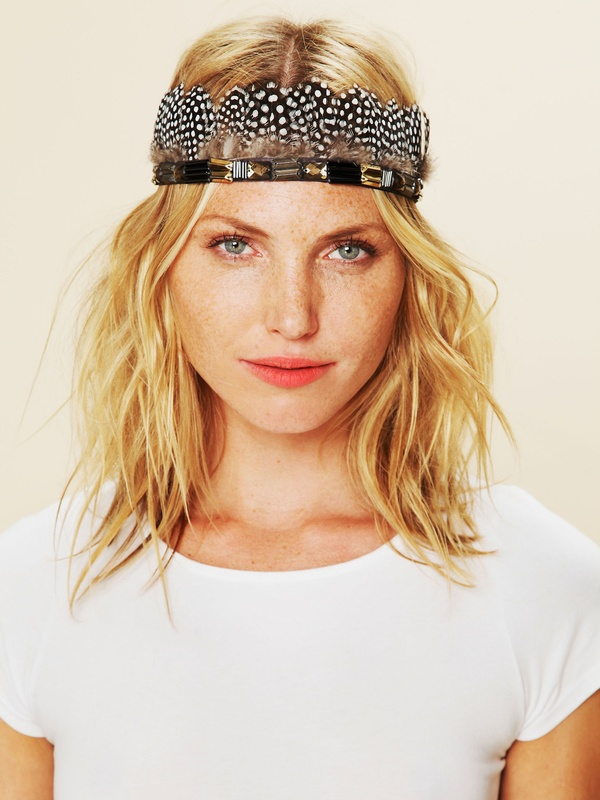 Jeweled Mix Feather Headdress from Free People
