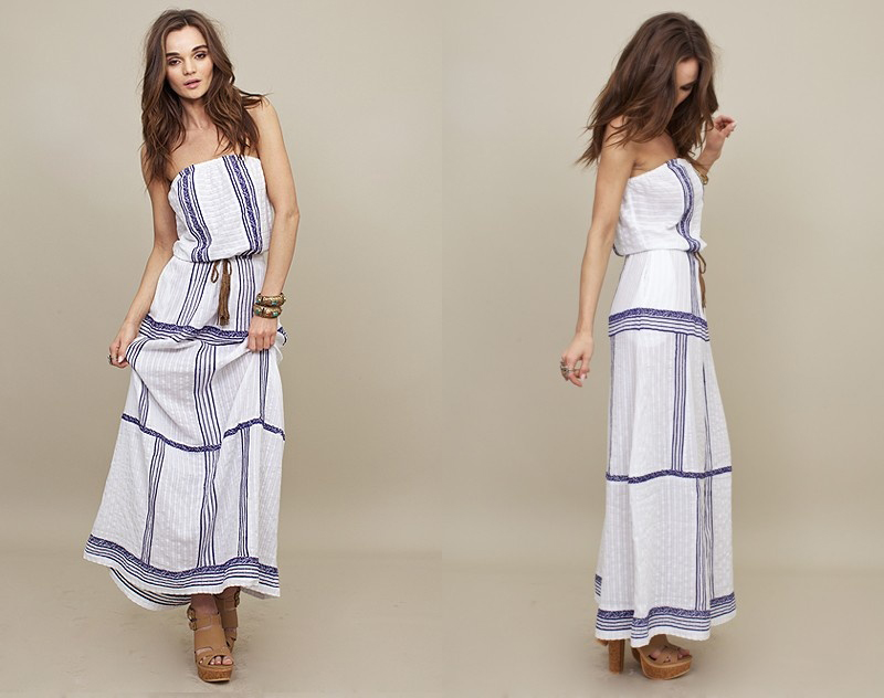 Strapless Maxi Dress by Letarte