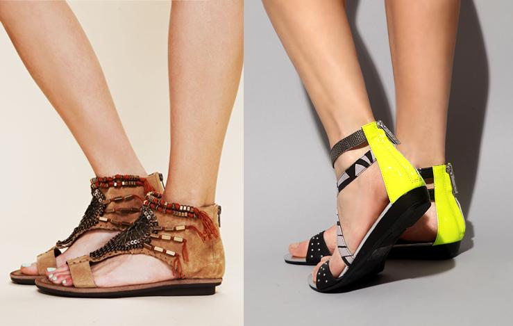 Desert Beaded Sandal from Free People + Neon Tribal Sandal by Matiko