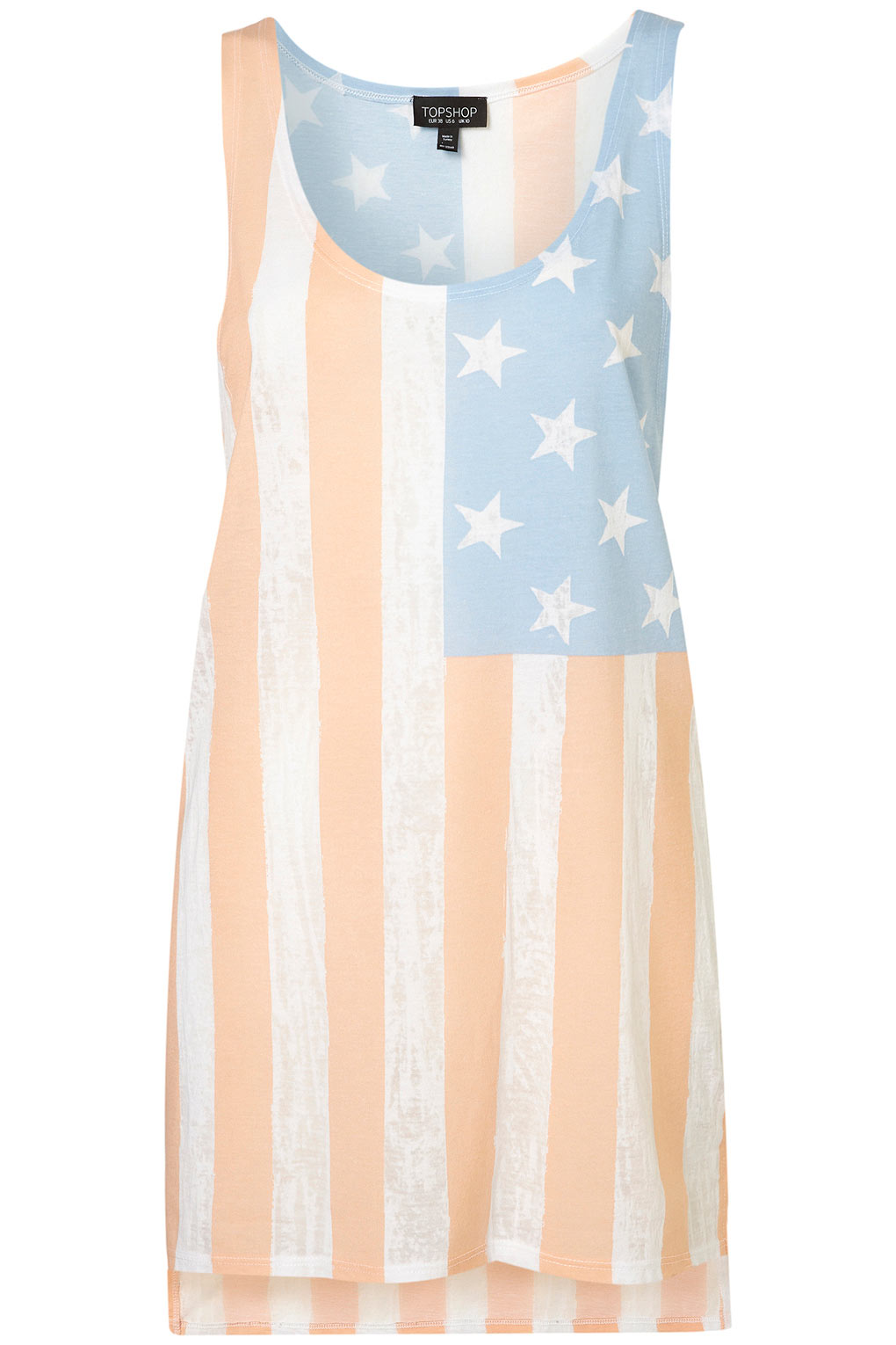 Burnout Flag Vest from TopShop