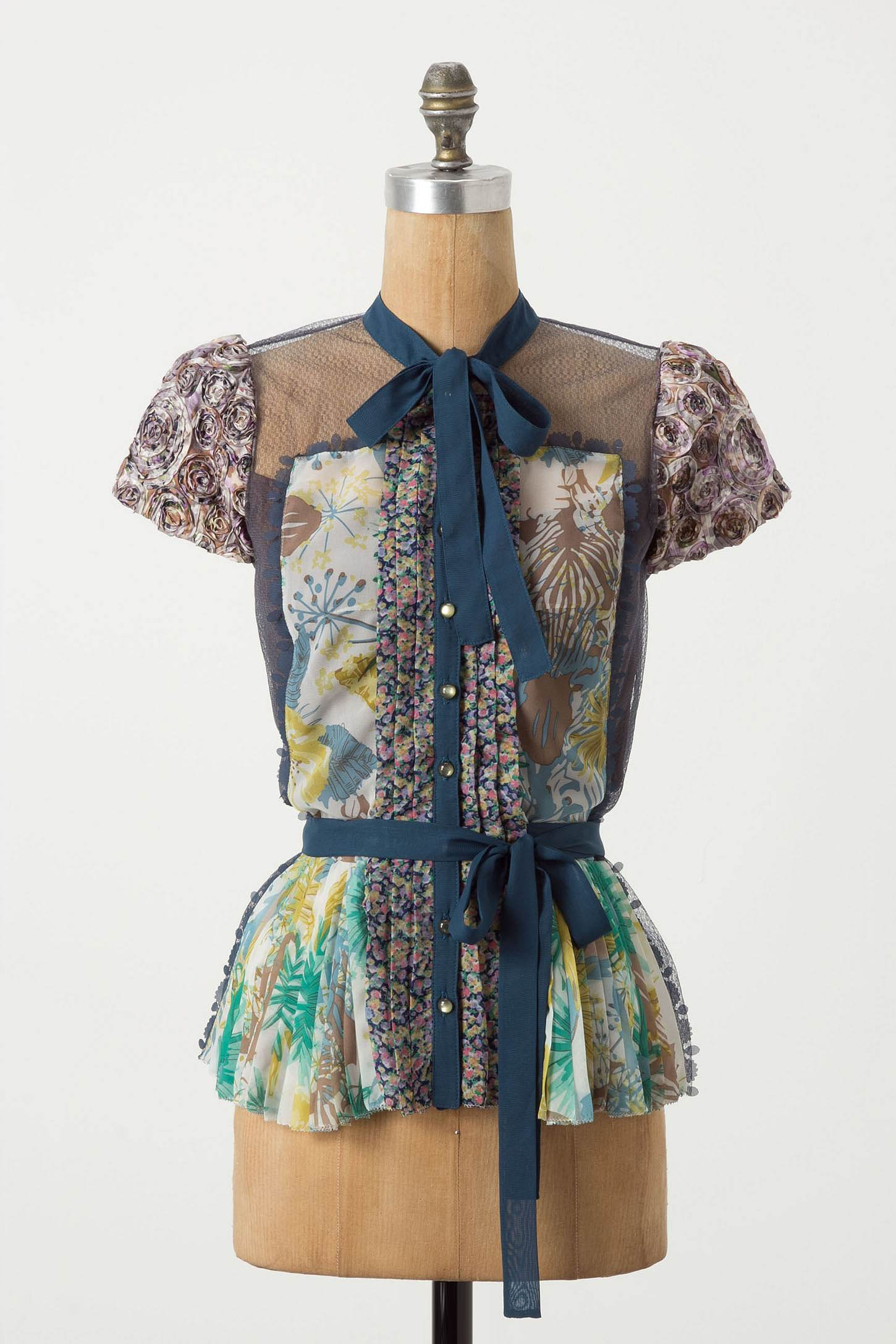 Wilderflora Patchwork Blouse by Byron Lars