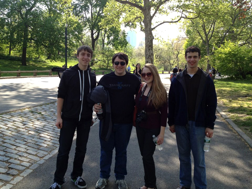 Brian, Matthew, Me, my camera, and Ben in Central Park
