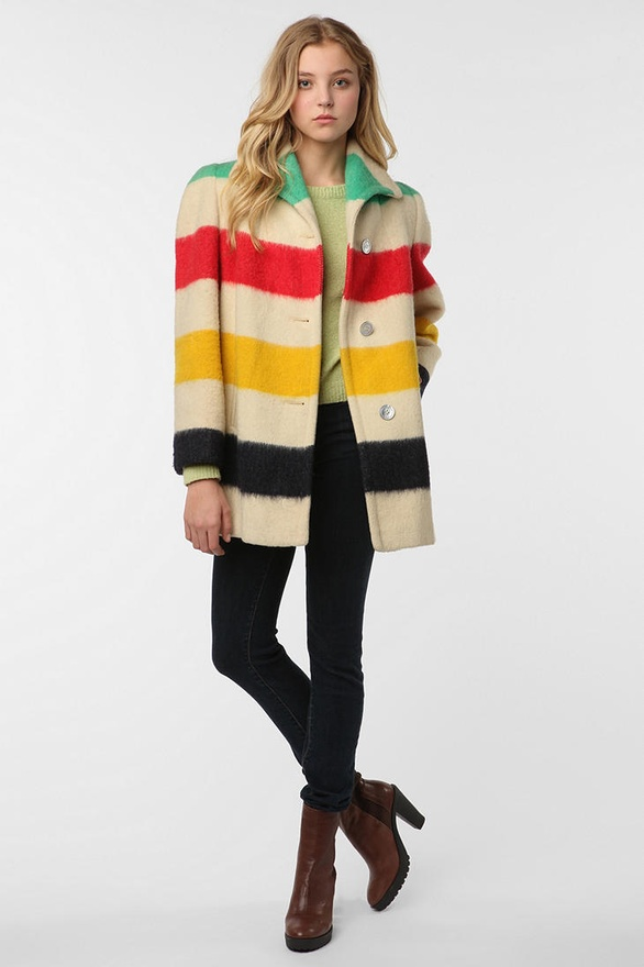 Vintage '30s Iconic Hudson Bay Blanket Jacket from Urban Outfitters