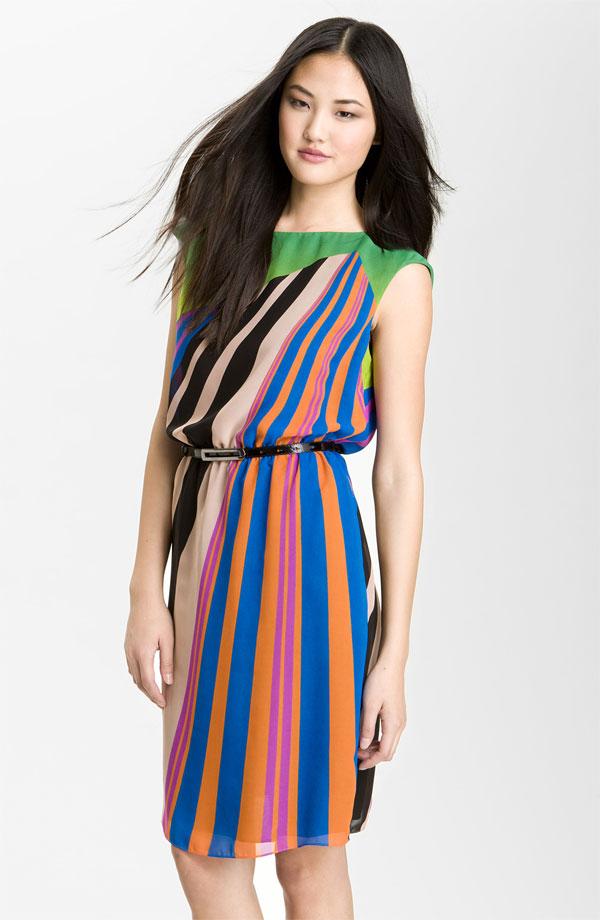 Print Chiffon Day Dress by Adrianna Papell