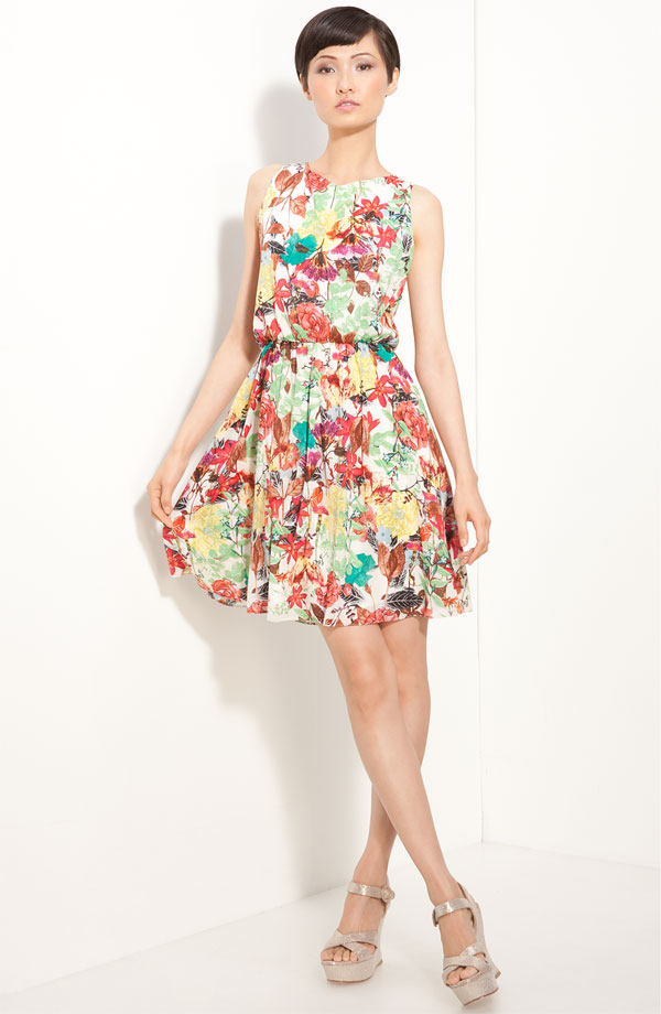 'Alina' Floral Print Dress by Alice + Olivia