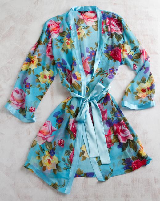 La Fee Verte Silk Gypsy Rose Kimono from byLangley