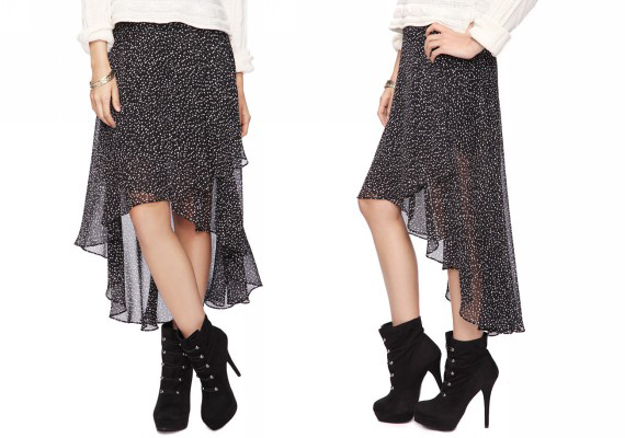 Diagonal High-Low Skirt from Forever21