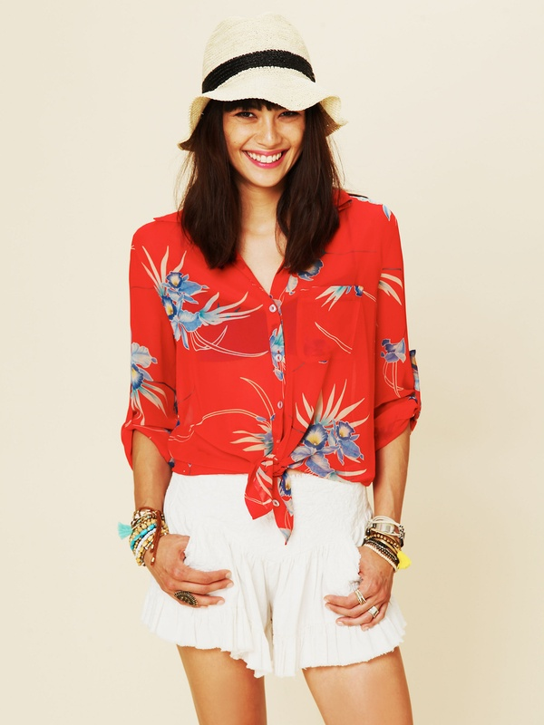 Biscayne Boulevard Buttondown by Free People