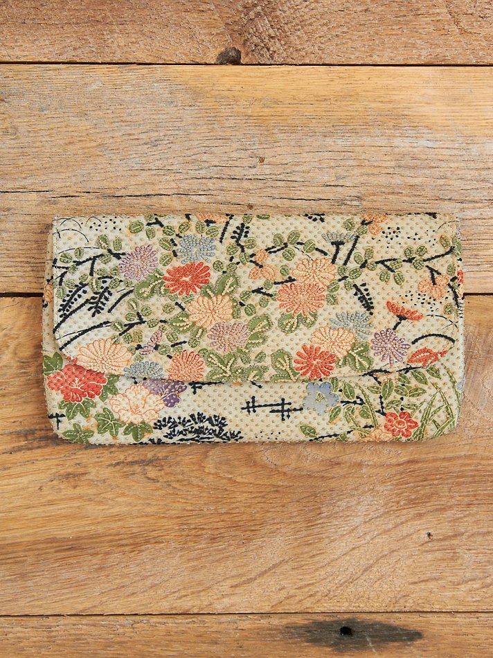 Vintage Embroidered Floral Clutch from Free People
