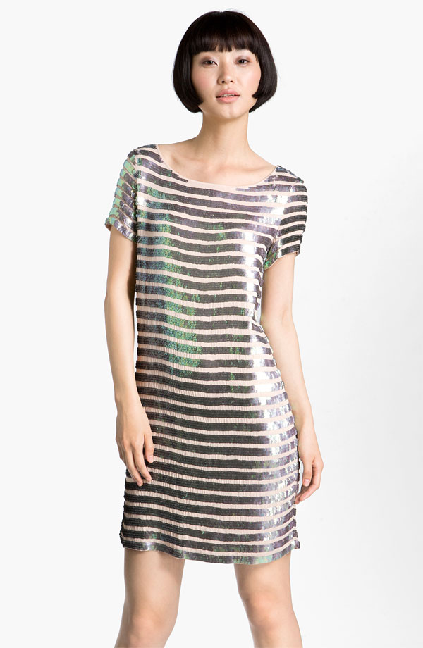 Sequin Gauze Shift Dress by French Connection