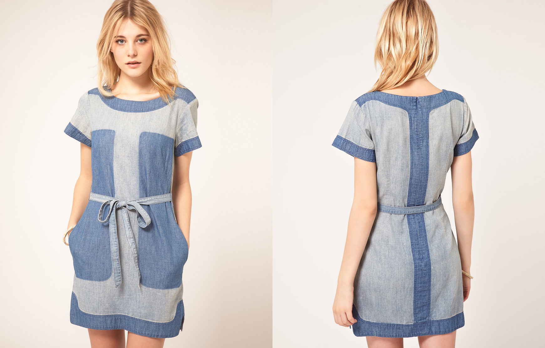 Denim Panel Dress by French Connection