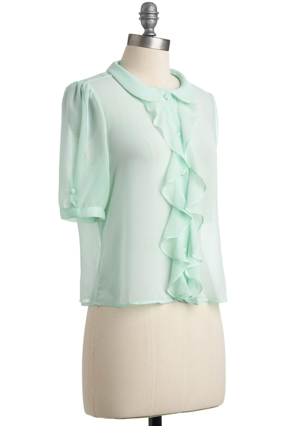 Light of Dawn Top in Morning Mint from ModCloth