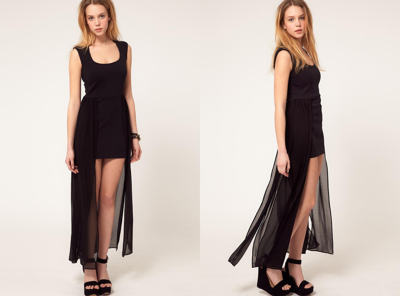 River Island Drape Side Dress by ASOS