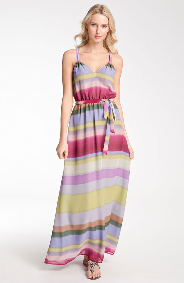 Silk Chiffon Maxi Dress by Presley Skye