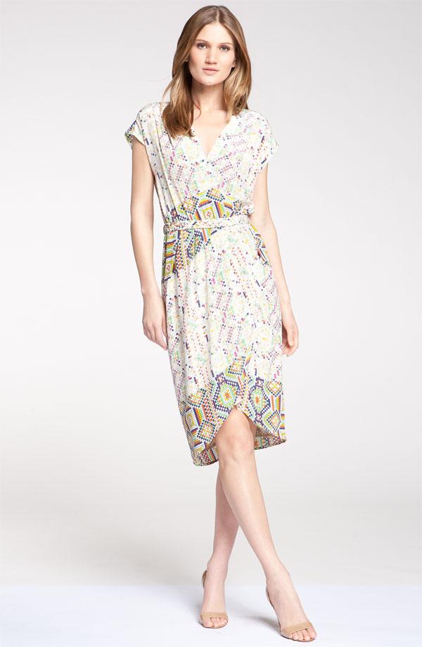 Digital Print Silk Crêpe de Chine Dress by Presley Skye