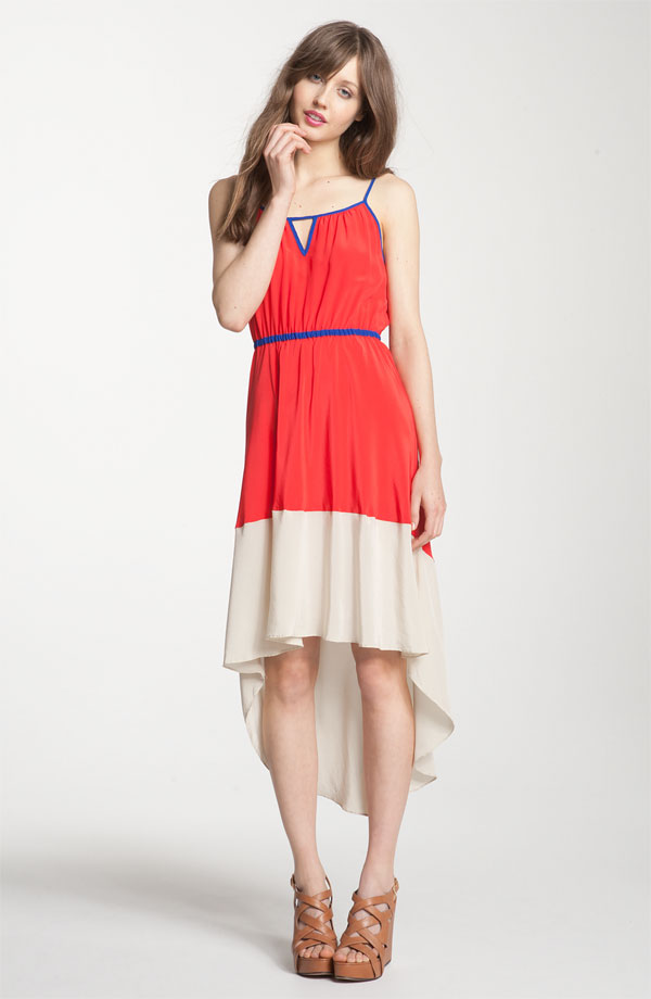 Colorblock Asymmetrical Hem Dress by Willow & Clay
