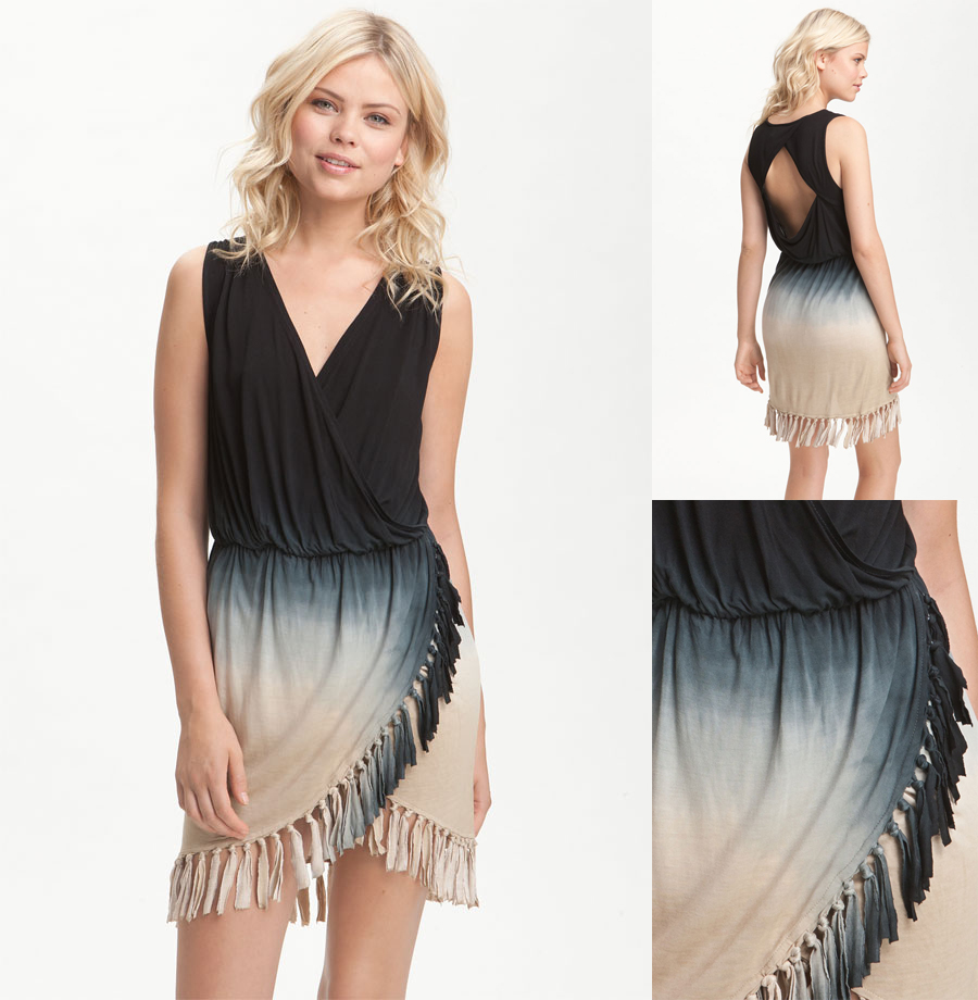 'Dresdin' Ombre Fringe Trim Dress by Young, Fabulous & Broke