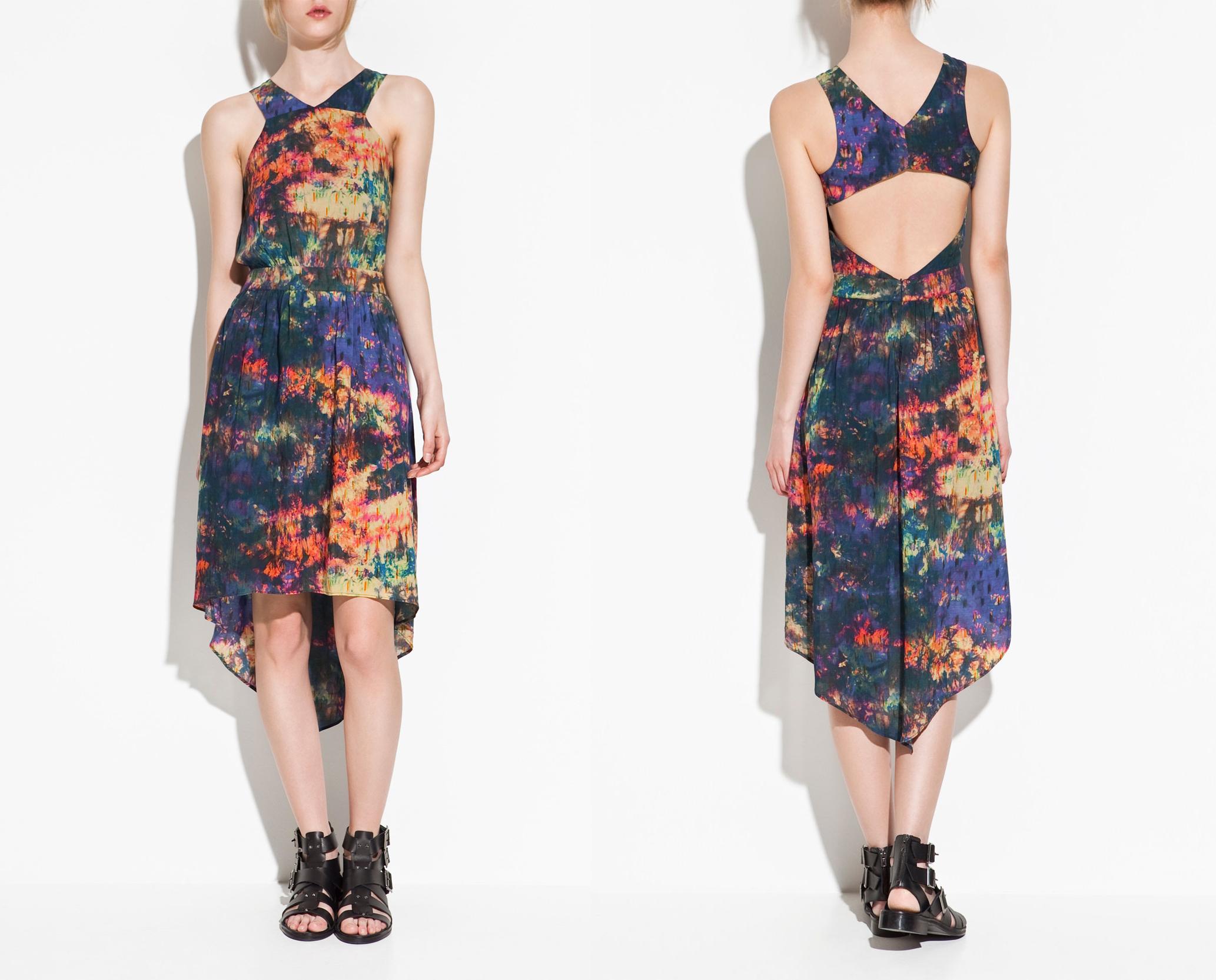 Open Back Dress by Zara