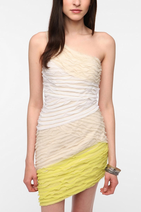 One-Shoulder Chiffon Dress by Cooper St