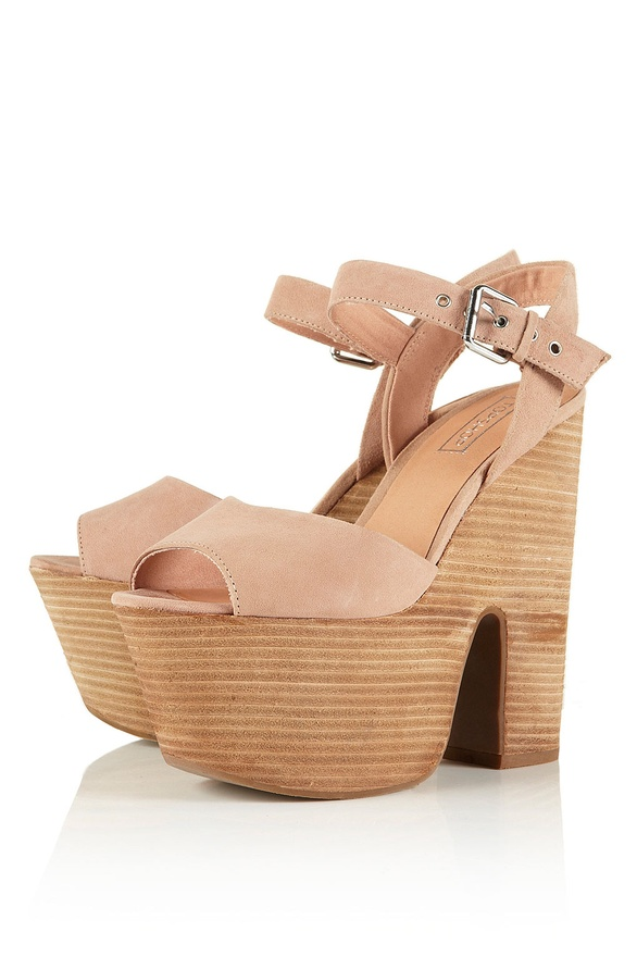 Lassie Suede Stacked Wedges from TopShop