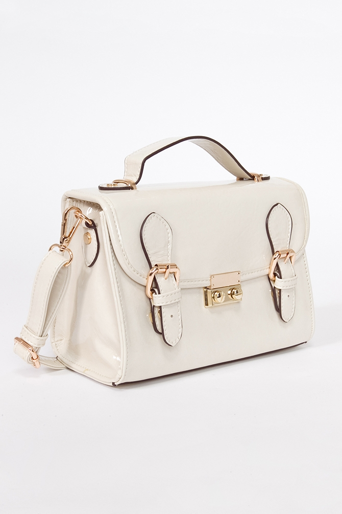 Madison Patent Satchel by Melie Bianco