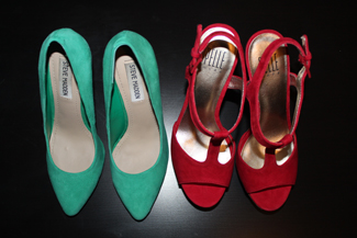 my Steve Madden and Pelle Moda pumps