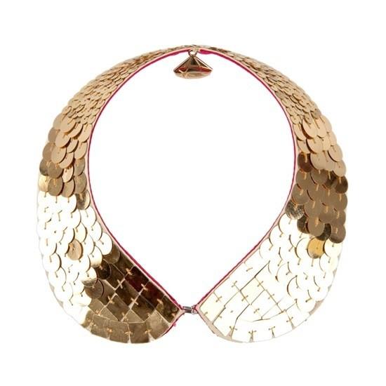 Gold Sequin Collar by Gemma Lister