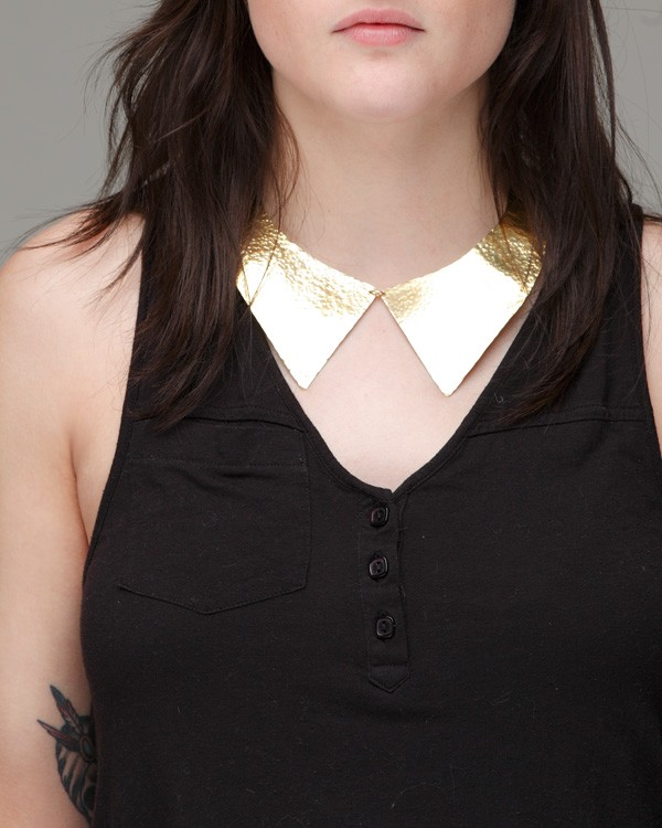 Hammered Collar Necklace by Young Frankk
