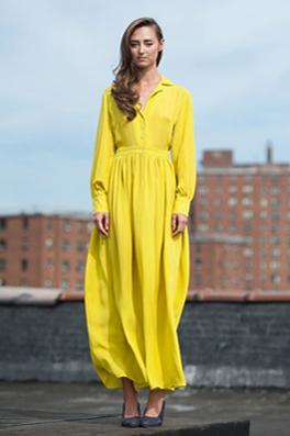 Button-up maxi dress by Mina Stone