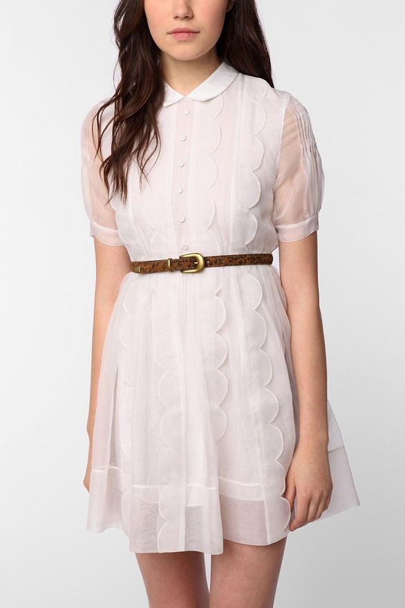 Silk Scalloped Ella Dress by TBA