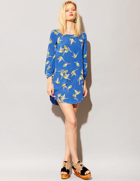 Cobalt Bird Dress from Pixie Market
